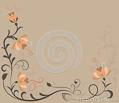 Beige flowers background