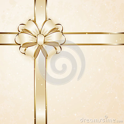 Beige gift bow