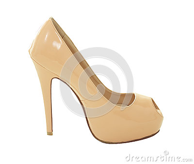 Beige High Heels Stock Images - Image: 25936414