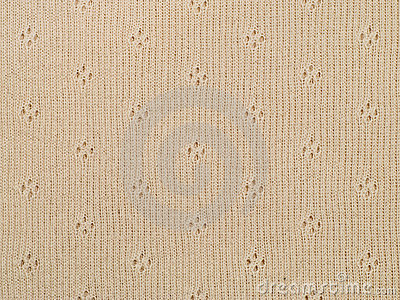 Beige knitted cloth texture