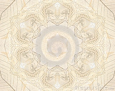 Beige lace and leaf background
