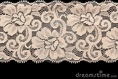 Beige lace with pattern flower