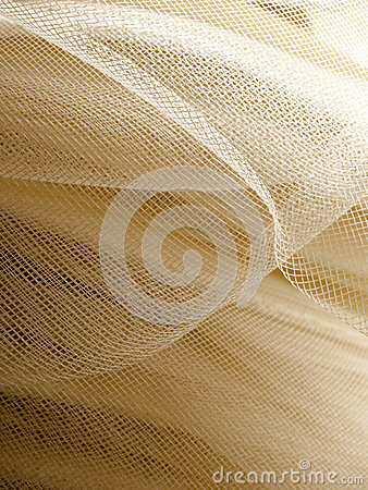 Beige mesh fabric