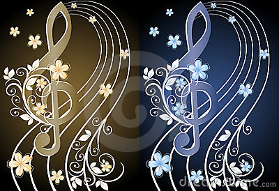 Beige Musical Background Royalty Free Stock Images - Image: 23247569