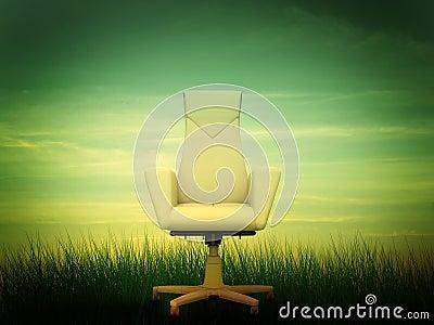 Beige office armchair