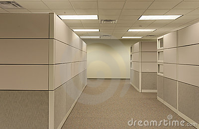 Beige open generic Office Cubical workspace