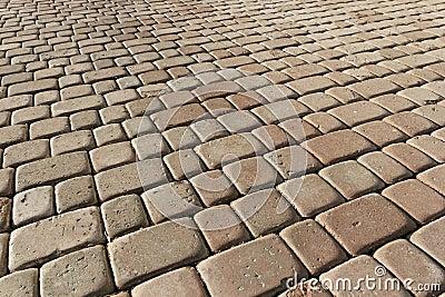 Beige pavement