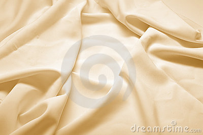 Beige silk fabric