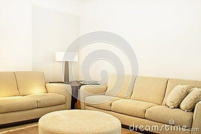 Beige textile sofas