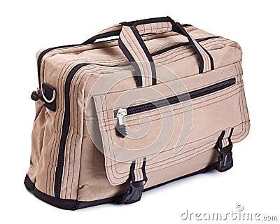 Beige travel bag