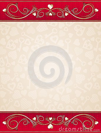 Beige valentine background,