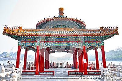 The Beihai Park Five Dragon Pavilion Editorial Stock Photo