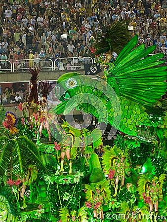 Free Beija Flor Float, Rio Carnival. Stock Photo - 4545420