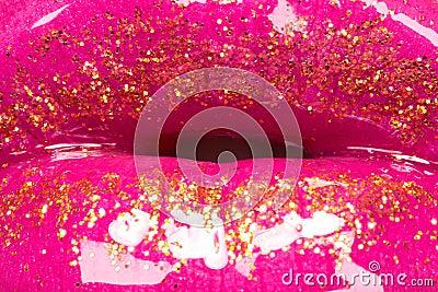 Beije a composição do lustro dos bordos da forma da textura & do encanto
