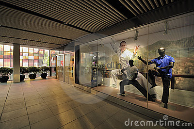 Beijing Adidas largest flagship store Showcase Editorial Photo