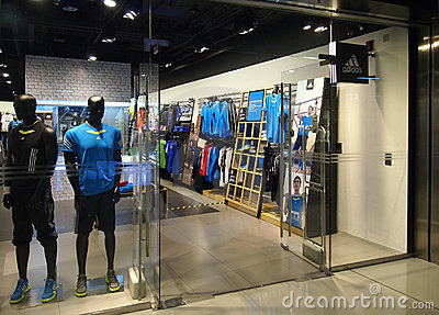 Beijing Adidas largest flagship store Showcase Editorial Stock Photo
