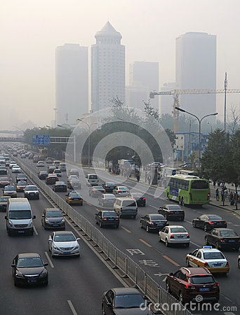 Beijing Air Pollution Editorial Stock Image