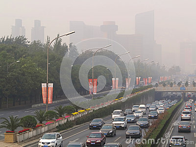 Beijing Air Pollution Editorial Stock Photo
