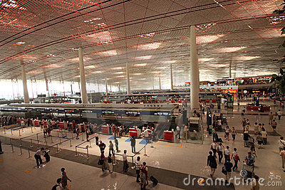 Beijing Capital Airport. Terminal 3 (T3) Editorial Image