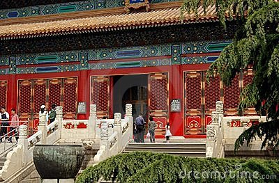 Beijing, China: Forbidden City Hall Editorial Photography