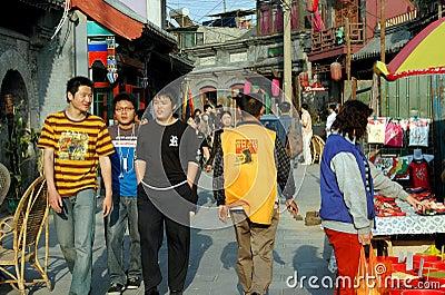 Beijing, China: Hutong Street Scene Editorial Stock Photo