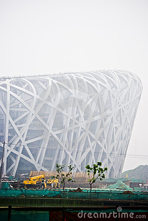 Beijing China Olympic Stadium  Editorial Image