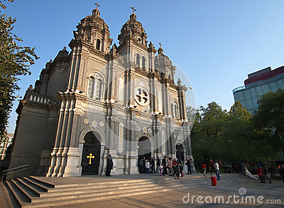 Beijing Church , China Editorial Image