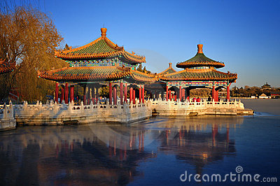 Beijing cityscape-Beihai Park Editorial Photography