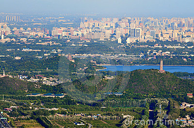 Beijing cityscape-The Summer Palace lake Editorial Stock Image