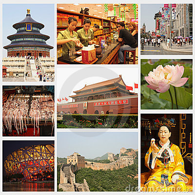 Beijing collage Editorial Photography