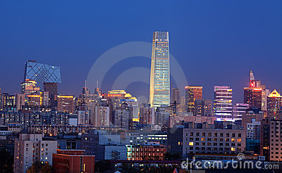 Beijing at dusk Editorial Photography