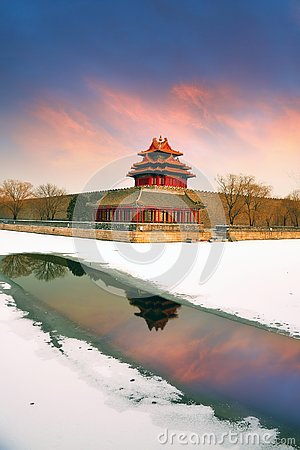 Free Beijing Forbidden City And Snows Stock Photography - 139881672