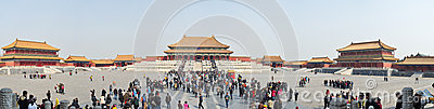 Beijing Forbidden City Panorama Editorial Photography
