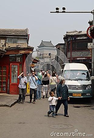 Beijing hutong street Editorial Photo