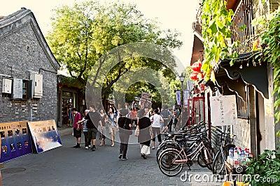 Beijing Hutong view - NanLuoGuXiang Editorial Image
