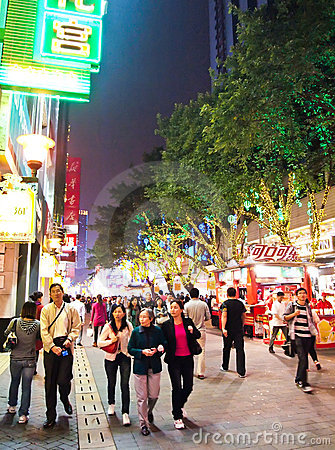 Free Beijing Lu , Main Shopping Steet In Guangzhou. Royalty Free Stock Photography - 20935757