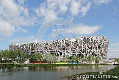 Beijing National Olympic Stadium/Bird s Nest Editorial Stock Photo