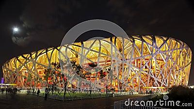 The Beijing National Stadium (The Bird s Nest) Editorial Photography