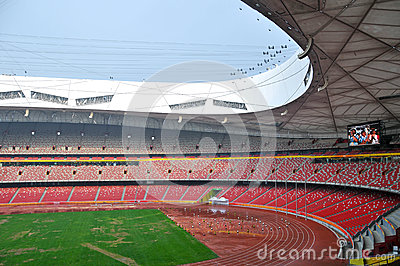 Beijing National Stadium (Bird s nest) Editorial Stock Photo