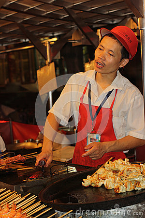 Beijing night market Editorial Stock Photo