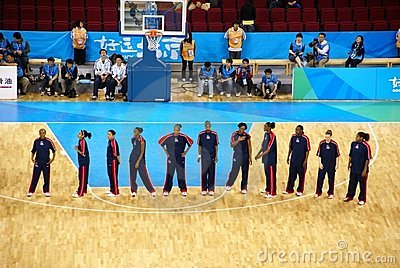 Beijing Olympic Basket ball Arena put into service Editorial Image