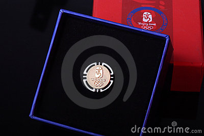 Beijing Olympic Games badge. Editorial Photo
