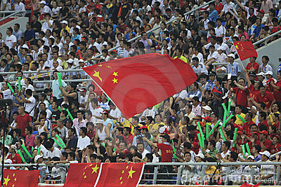 Beijing Olympic Soccer - Belgium v. China Editorial Photography