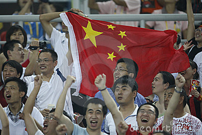 Beijing Olympic Soccer - China v. Sweden Editorial Stock Image