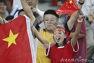 Beijing Olympic Soccer - China v. Sweden Editorial Stock Photo