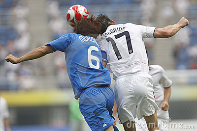 Beijing Olympic Soccer - Japan v. USA Editorial Stock Photo
