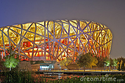 Beijing olympic stadion Redaktionell Bild
