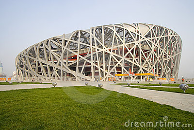 Beijing Olympic Stadium 2008 Editorial Stock Photo
