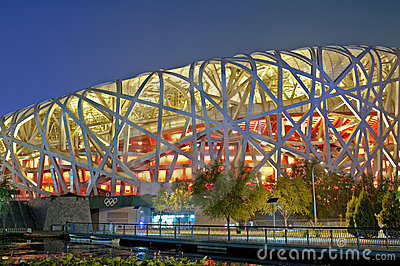 Beijing Olympic Stadium Editorial Stock Photo
