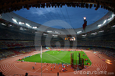 Beijing Olympic stadium bird nest Editorial Image